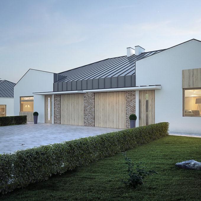 Wizualizacja 3D Poznań domu jednorodzinnego