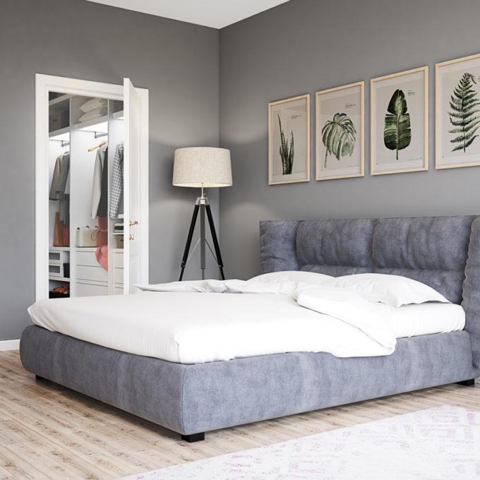 Wizualizacje 3D Poznań projekty graficzne poznań sypialnia łóżko popiel