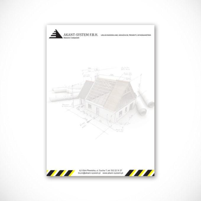 Papier firmowy poznań firma budowlana