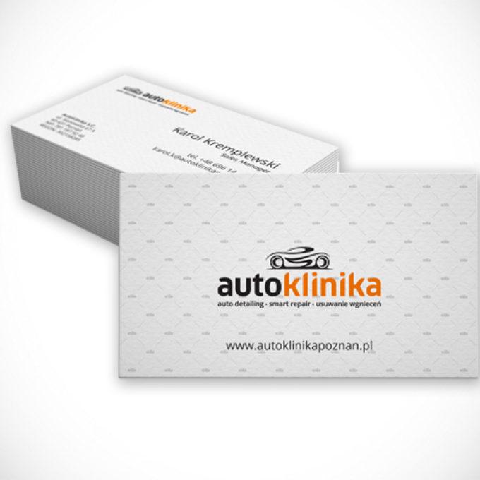 wizytówki poznań projekty graficzne autoklinika naprawa karoserii