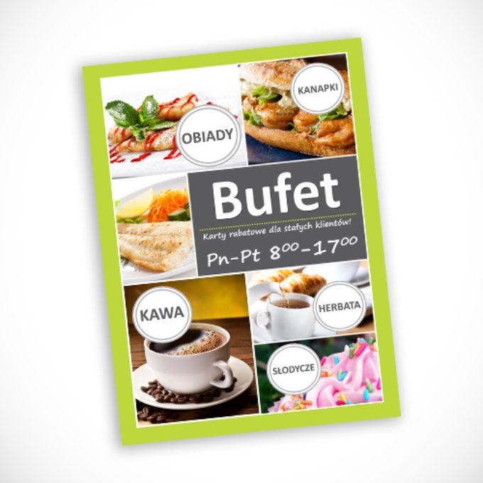 plakaty reklamowe poznań bufet menu