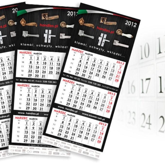 Kalendarze poznań klamki uchwyty wkładki