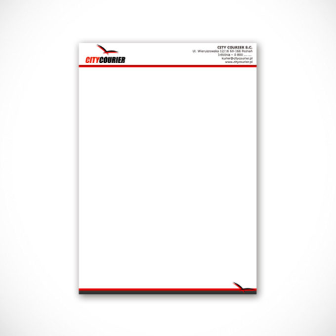 Papier firmowy poznań firma kurierska