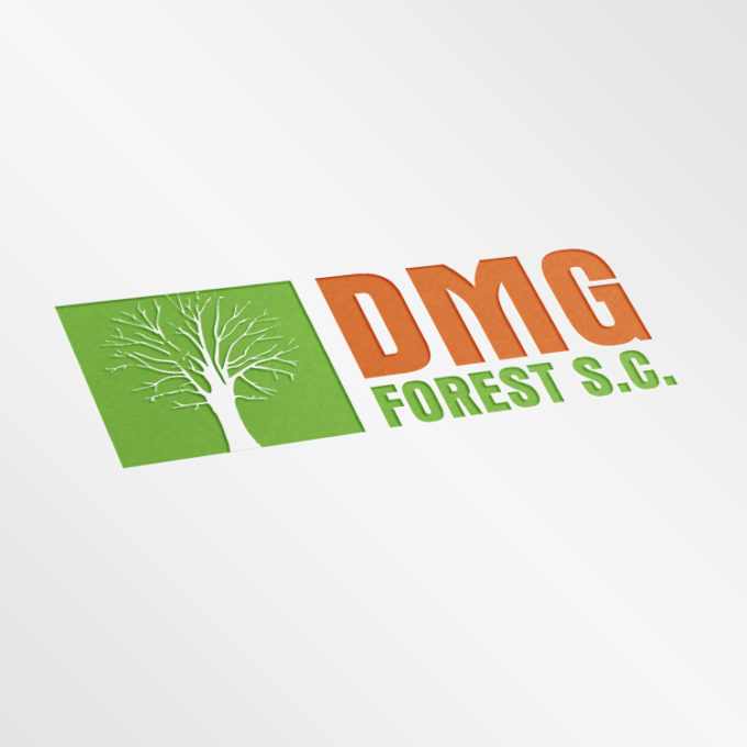 Logo projekty graficzne poznań zielony pomarańcz