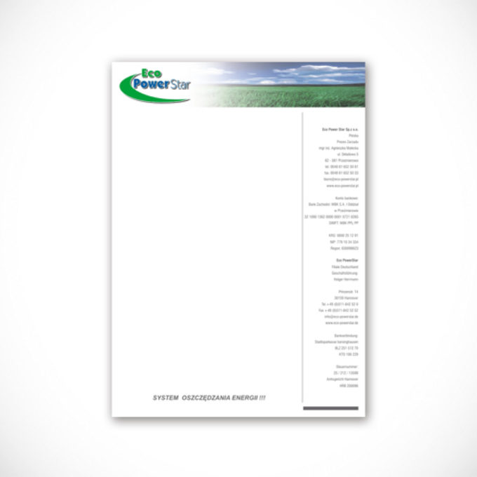 Papier firmowy poznań ochrona środowiska