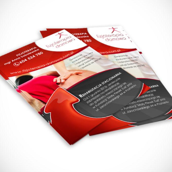 ulotki reklamowe poznań oferta fizjoterapia rechabilitacja