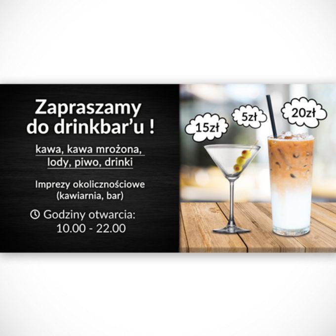 Banery reklamowe poznań imprezy okolicznościowe kawiarnia piwo