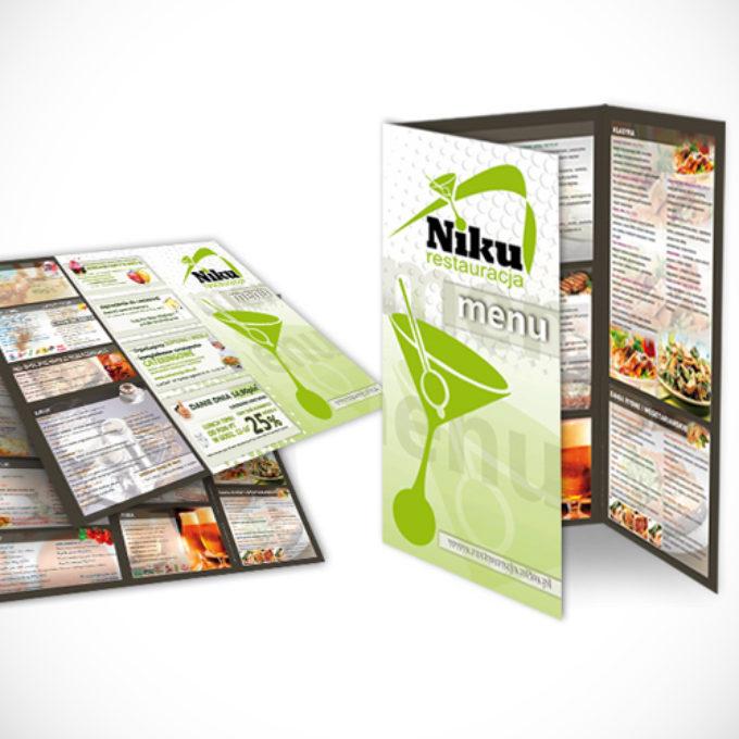 ulotki reklamowe poznań cennik menu restauracja