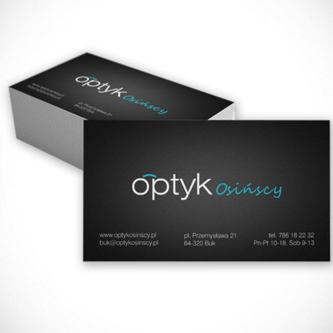 wizytówki poznań projekty graficzne optyk salon optyczny