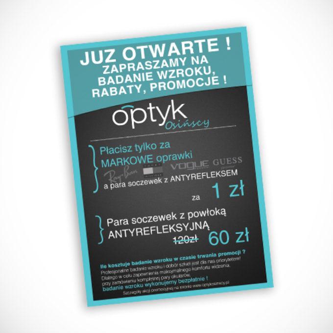 plakaty reklamowe poznań optyk soczewki kontaktowe