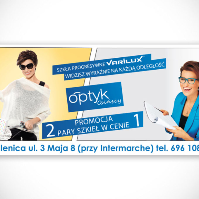 Banery reklamowe poznań optyk okulary
