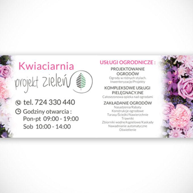 Banery reklamowe kwiaciarnia usługi ogrodnicze projektowanie ogrodów