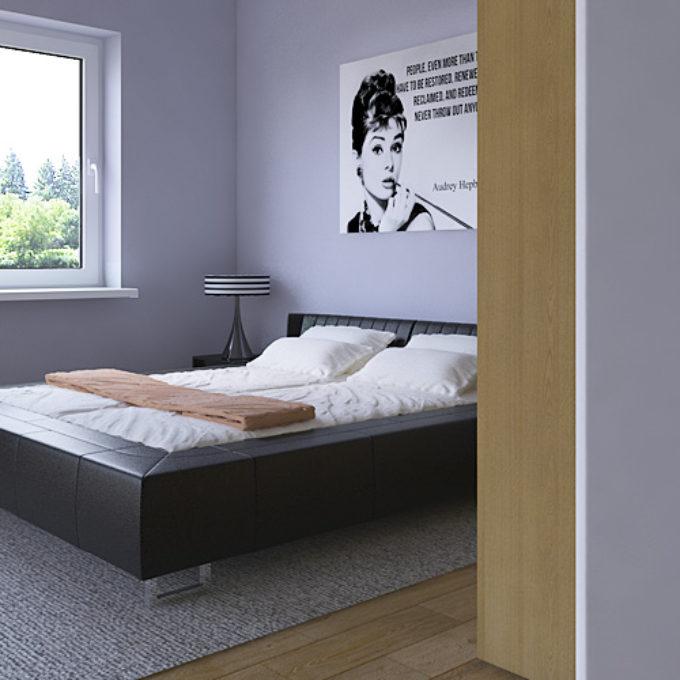 Wizualizacje 3D Poznań projekty graficzne sypialnia nowoczesne łóżko