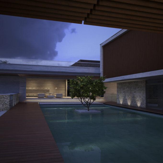Wizualizacje 3D Poznań projekty graficzne poznań dom jednorodzinny z basenem