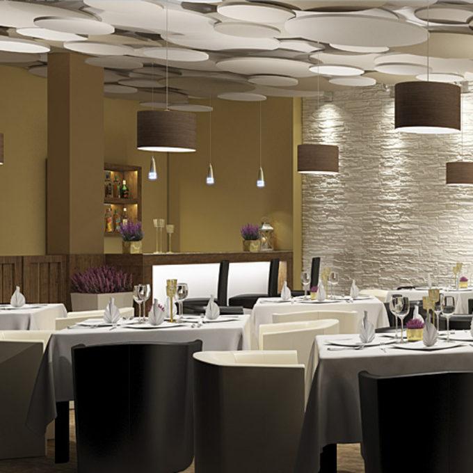 Wizualizacje 3D Poznań projekty graficzne poznań sala restauracyjna stoliki i krzesła