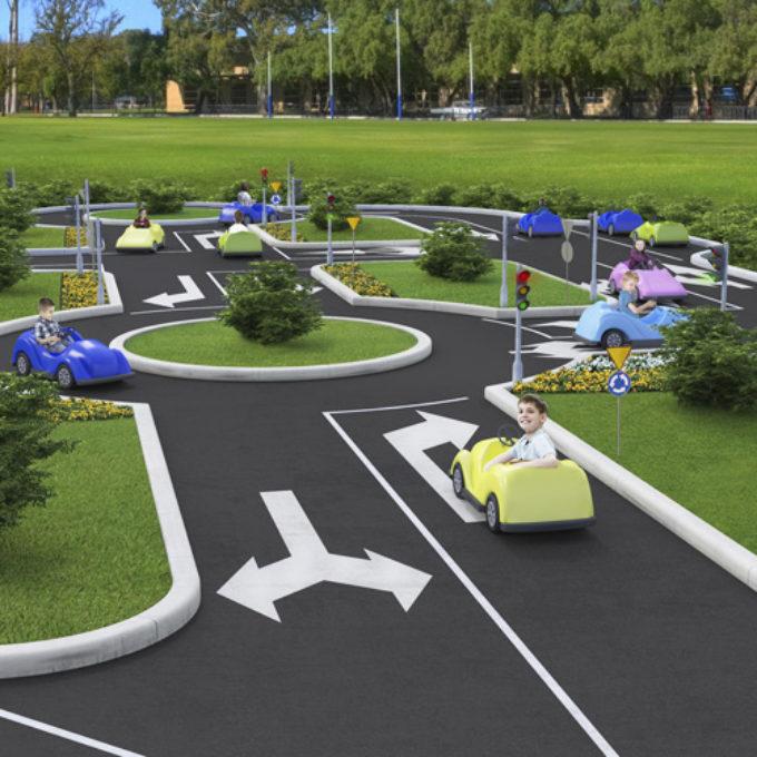 Wizualizacje 3D Poznań projekty graficzne poznań nauka jazdy dla dzieci
