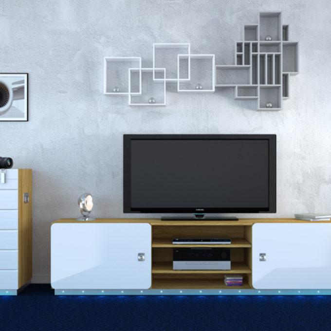 Wizualizacje 3D Poznań projekty graficzne poznań pokój dzienny telewizor