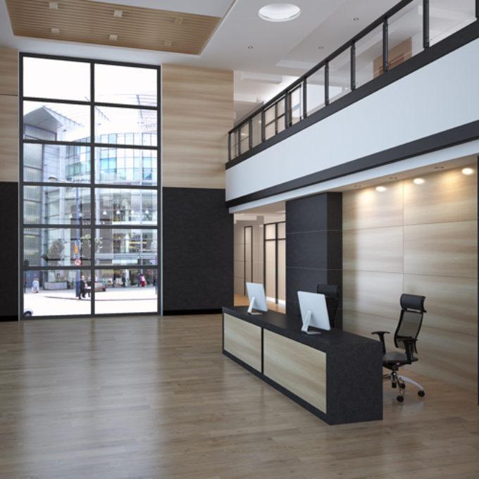 Wizualizacje 3D Poznań projekty graficzne poznań hol hotelowy biura
