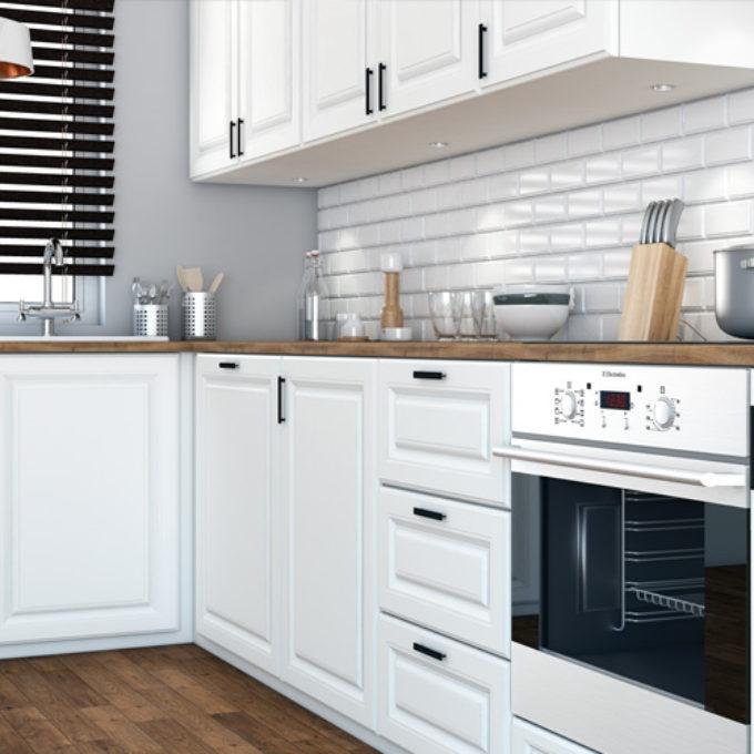 Wizualizacje 3D Poznań projekty graficzne poznań kuchnia rustykalna biała