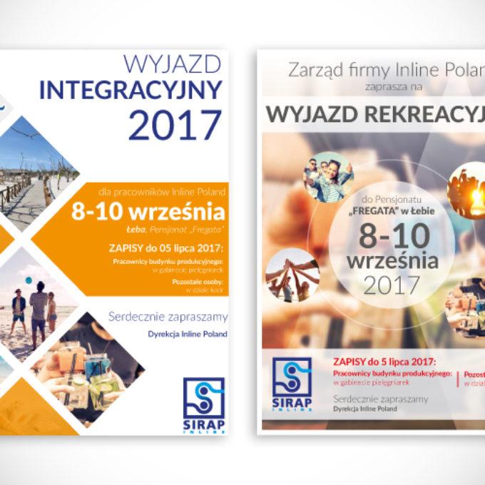 plakaty reklamowe poznań wyjazd integracyjny