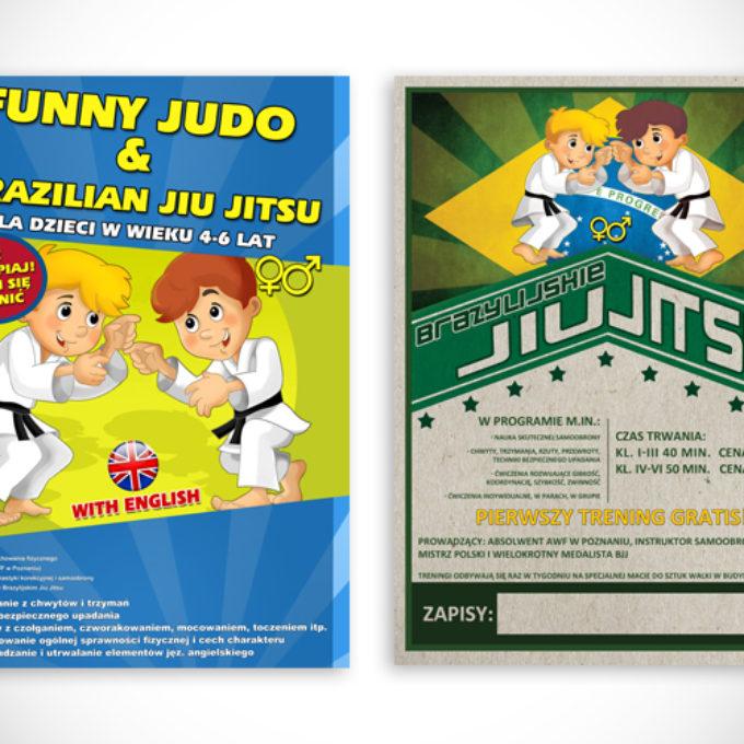 plakaty reklamowe poznań jujitsu dla dzieci