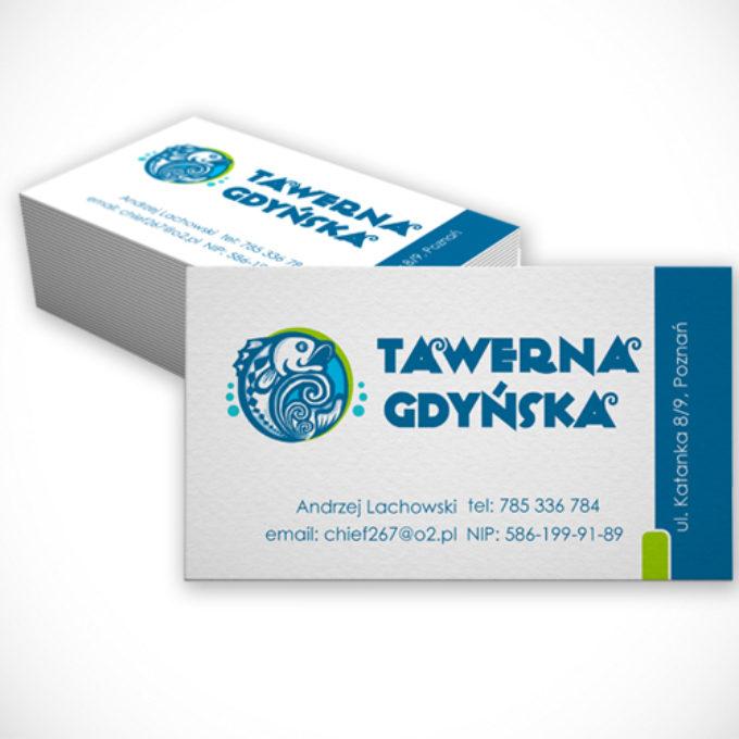 wizytówki poznań projekty graficzne restauracja tawerna gdyńska