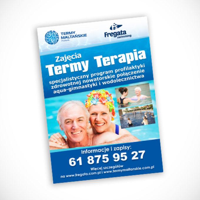 plakaty reklamowe poznań termy zajęcia dla seniorów