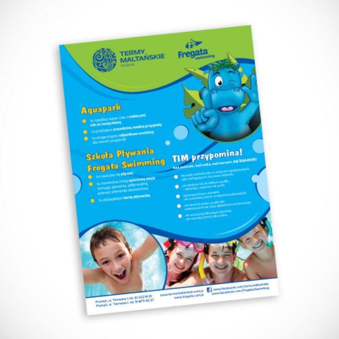 plakaty reklamowe poznań termy szkoła pływania dla dzieci