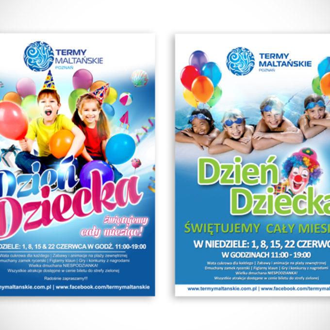 plakaty reklamowe poznań dzień dziecka termy