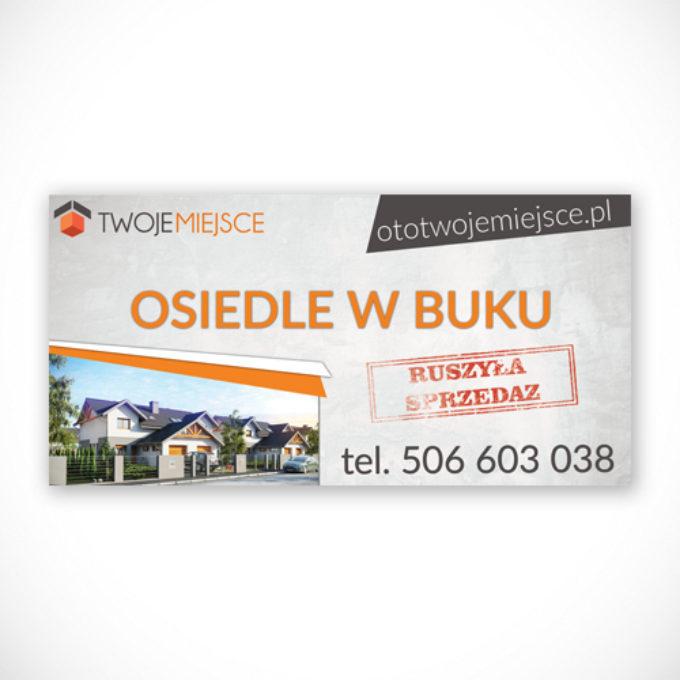 Banery reklamowe poznań deweloper budowa domów