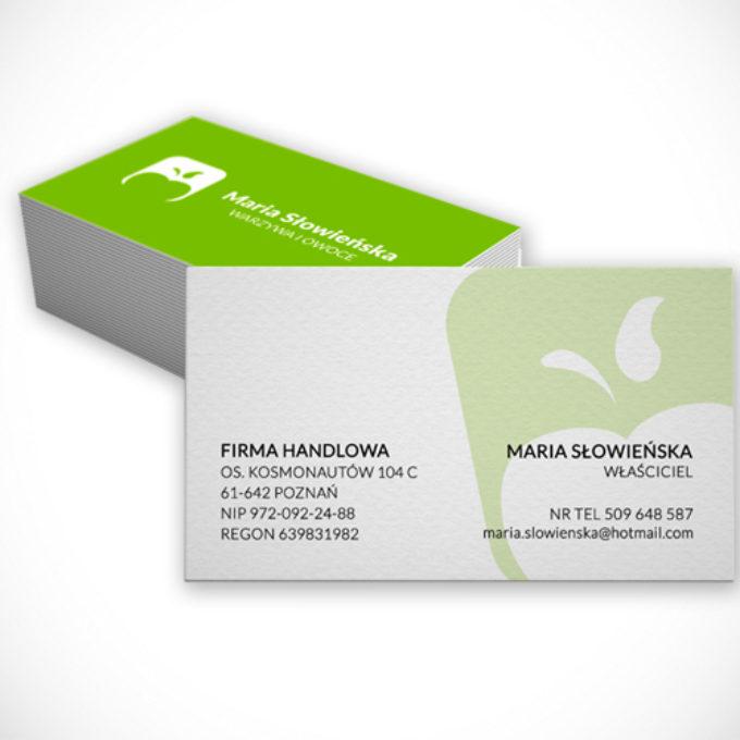 wizytówki poznań projekty graficzne firma handlowa