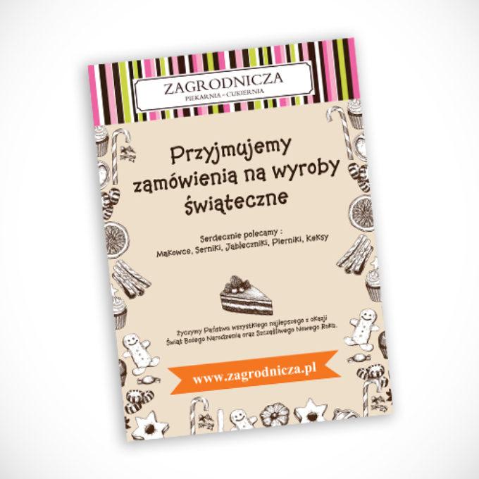 plakaty reklamowe poznań cukiernia zagrodnicza wypieki